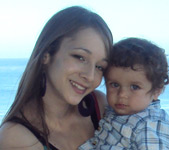 Alicia and her son